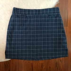 Lady Hagen Womens 4 Blue Plaid Skort